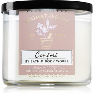 Bath & Body Works Vanilla + Patchouli vonná svíčka 411 g