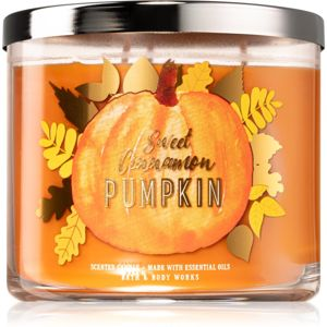 Bath & Body Works Sweet Cinnamon Pumpkin vonná svíčka III. 411 g