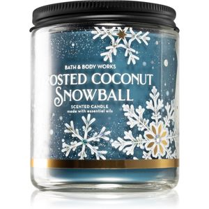 Bath & Body Works Frosted Coconut Snowball vonná svíčka 198 g