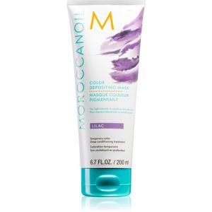 Moroccanoil Color Depositing jemná vyživující maska bez permanentních barevných pigmentů Lilac 200 ml