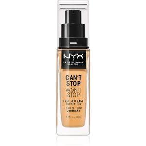 NYX Professional Makeup Can't Stop Won't Stop vysoce krycí make-up odstín 12 Classic Tan 30 ml