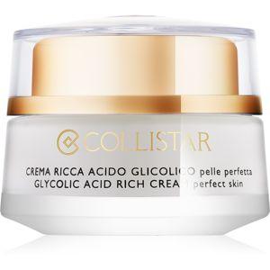 Collistar Pure Actives Glycolic Acid výživný krém pro obnovu hutnosti pleti s rozjasňujícím efektem 50 ml