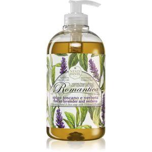 Nesti Dante Romantica Wild Tuscan Lavender and Verbena jemné tekuté mýdlo na ruce 500 ml