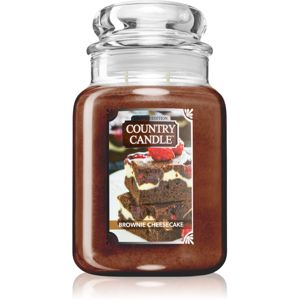 Country Candle Brownie Cheesecake vonná svíčka 680 g