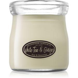 Milkhouse Candle Co. Creamery White Tea & Ginger vonná svíčka Cream Jar 142 g