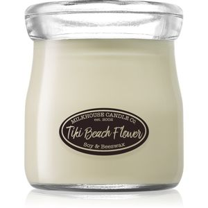 Milkhouse Candle Co. Creamery Tiki Beach Flower vonná svíčka Cream Jar 142 g