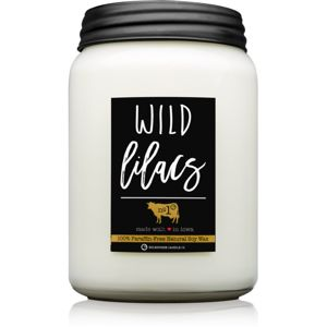 Milkhouse Candle Co. Farmhouse Wild Lilacs vonná svíčka Mason Jar 737 g