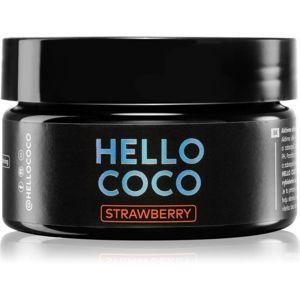 Hello Coco Strawberry aktivní uhlí na bělení zubů příchuť Strawberry