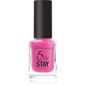 Dermacol 5 Day Stay dlouhotrvající lak na nehty odstín 35 Pink Ride 11 ml