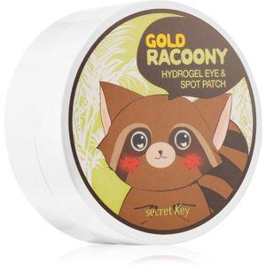 Secret Key Racoony Gold hydrogelová maska na oční okolí se zlatem 90 ks
