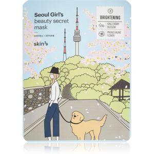 Skin79 Seoul Girl's Beauty Secret plátýnková maska s rozjasňujícím a hydratačním účinkem 20 g