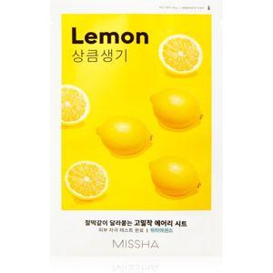 Missha Airy Fit Lemon plátýnková maska pro rozjasnění a vitalitu pleti 19 g