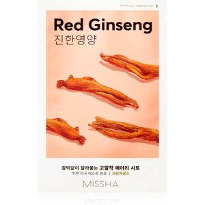 Missha Airy Fit Red Ginseng plátýnková maska s hydratačním a revitalizačním účinkem 19 g