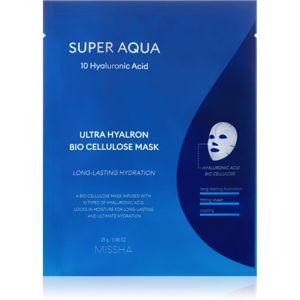 Missha Super Aqua 10 Hyaluronic Acid plátýnková maska s vysoce hydratačním a vyživujícím účinkem 25 g