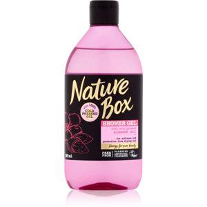 Nature Box Almond zjemňující sprchový gel proti vysoušení pokožky 385 ml