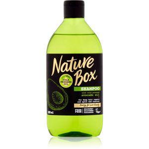 Nature Box Avocado hloubkově regenerační šampon na roztřepené konečky vlasů 385 ml
