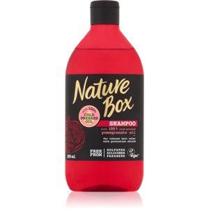 Nature Box Pomegranate hydratační a revitalizační šampon pro ochranu barvy 385 ml