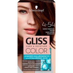 Schwarzkopf Gliss Color barva na vlasy odstín 4-54 Dark Copper Mahogany