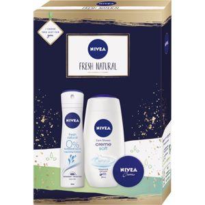 Nivea Fresh Natural dárková sada (na tvář, ruce a tělo)
