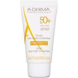 A-Derma Protect ochranný fluid pro normální až smíšenou pleť SPF 50+ 40 ml