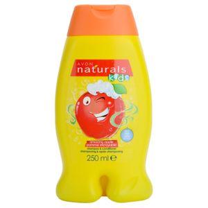Avon Naturals Kids šampon a kondicionér 2 v 1 pro děti s vůní Amazing Apple 250 ml