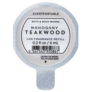 Bath & Body Works Mahogany Teakwood vůně do auta náhradní náplň 6 ml