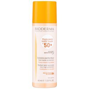 Bioderma Photoderm Nude Touch ochranný tónovaný fluid pro smíšenou až mastnou pleť SPF 50+ odstín Natural 40 ml