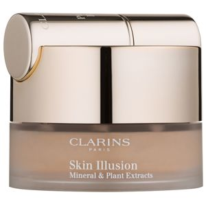 Clarins Face Make-Up Skin Illusion pudrový make-up se štětečkem odstín 114 Cappucino 13 g