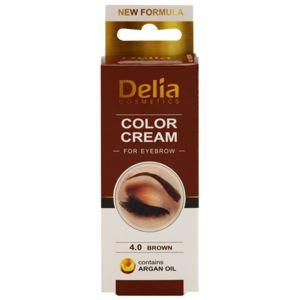 Delia Cosmetics Argan Oil barva na obočí odstín 4.0 Brown 15 ml