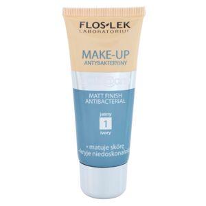 FlosLek Laboratorium Anti Acne matující make-up pro mastnou pleť se sklonem k akné odstín 1 Ivory 30 ml