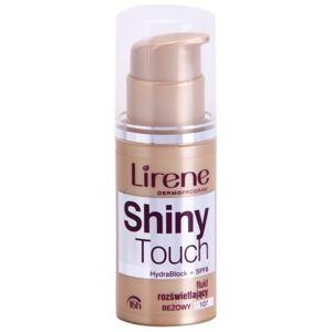 Lirene Shiny Touch rozjasňující fluidní make-up 16h odstín 107 Beige (SPF 8) 30 ml