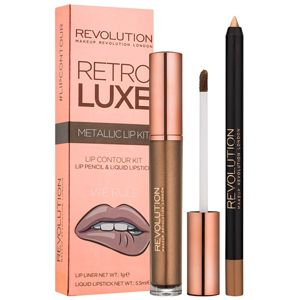 Makeup Revolution Retro Luxe sada na rty odstín We Rule 5,5 ml