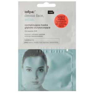 Tołpa Dermo Face Sebio normalizující hloubkově čisticí maska pro pleť s nedokonalostmi 2 x 6 ml